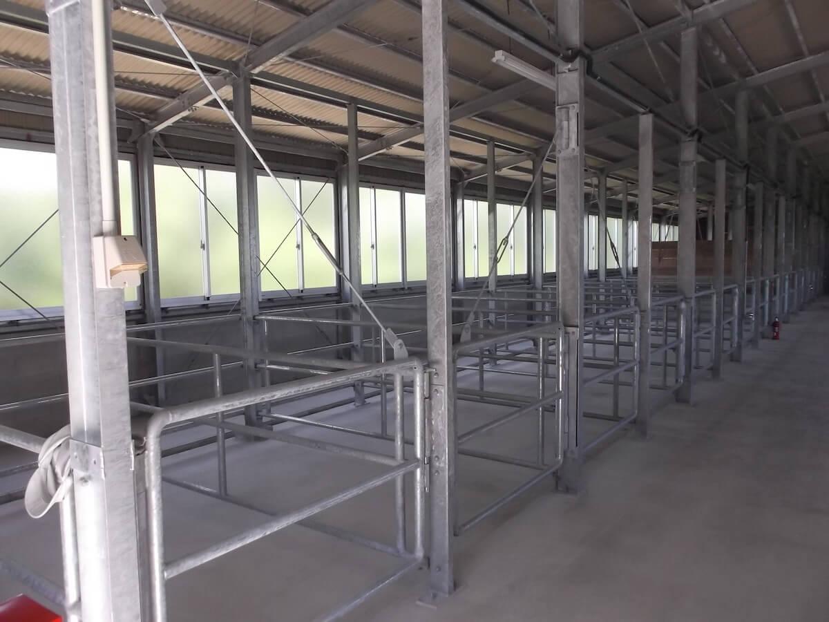 軽量H鋼型畜舎 現場:糸満市